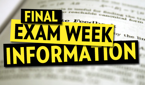 Important Info About Finals