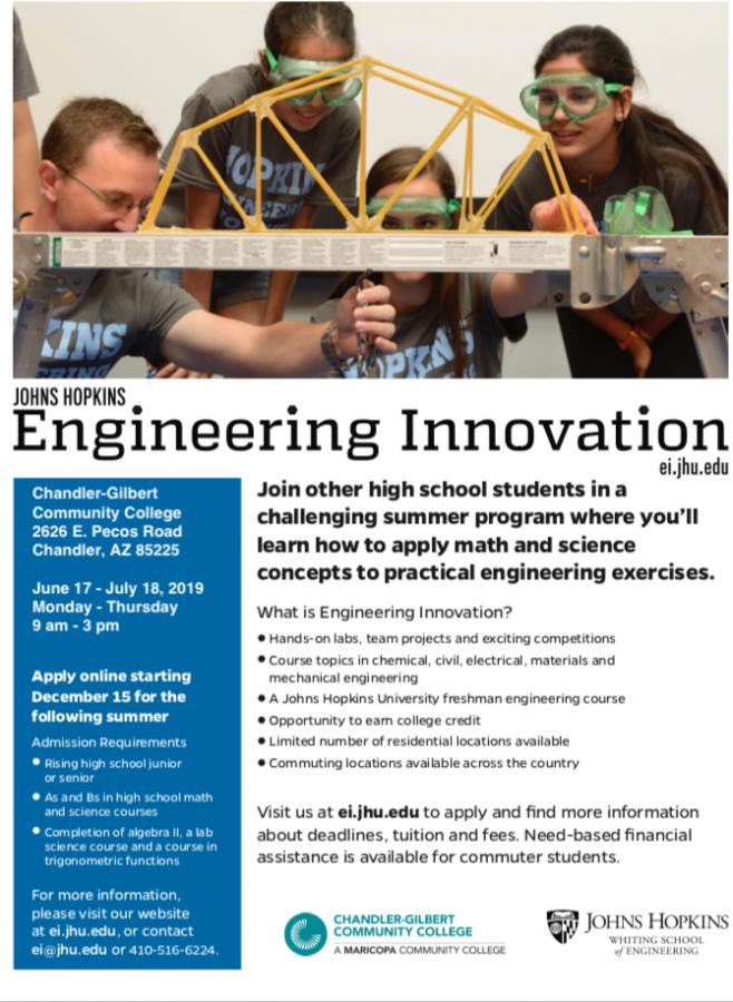 John Hopkins Engineering Innovation Summer Program