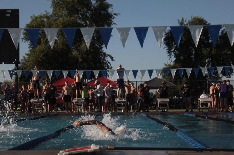 Varsity Swim Boys Break a School Record