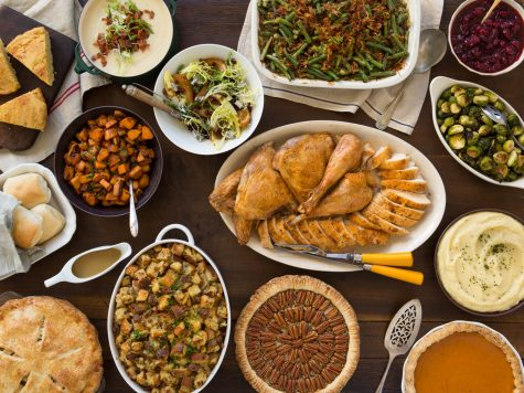 Some families traditionally eat dinners such as these on Thanksgiving.