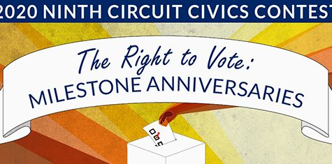 "2020 Ninth Circuit Civics Contest- ""The Right to Vote: Milestone Anniversaries"""