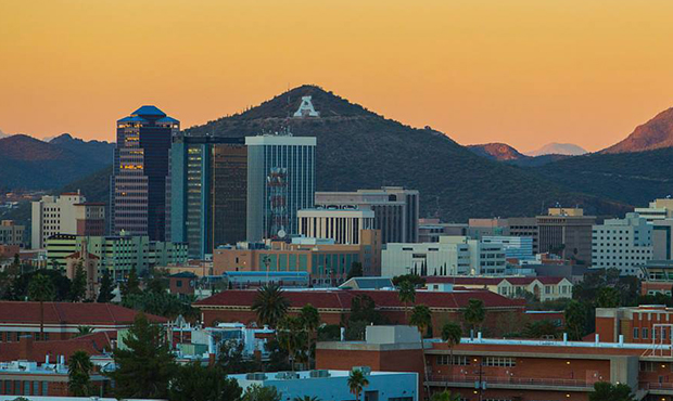 Here's the beautiful skyline above the University of Arizona campus.