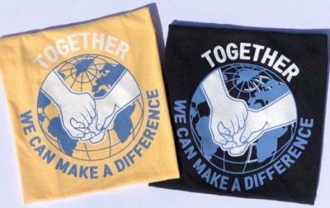 "The back of the ""Together We Can"" shirts. Photo courtesy of Jennyfer Park."