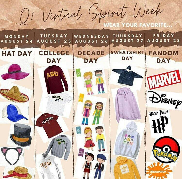 Spirit Week..But Online?!