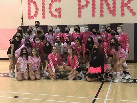 Dig Pink 2020: Varsity sweeps Parker High School in 3 sets